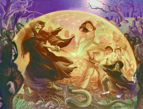 """A batalha de Harry e Voldemort no cemitério em """"O Cálice de Fogo"""""""