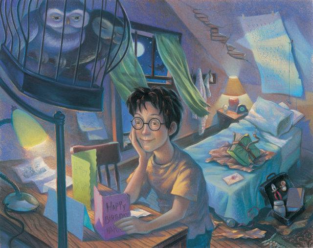 O quarto de Harry na Rua dos Alfeneiros