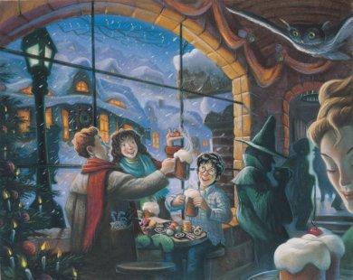 """Harry, Rony e Hermione na """"Dedos de Mel"""" em Hogsmeade"""